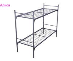 Прочные кровати металлические с ДСП спинками в госпитали